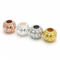 925 Sterling Silber Perlen, Trommel, plattiert, Falten, keine, 8mm, Bohrung:ca. 2mm, 2PCs/Menge, verkauft von Menge