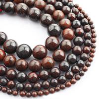 Jaspis Brekzien Perlen, Jaspis Brecciated, rund, natürlich, verschiedene Größen vorhanden, verkauft per ca. 15 ZollInch Strang