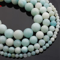 Amazonit Perlen, rund, natürlich, verschiedene Größen vorhanden, verkauft per ca. 15 ZollInch Strang
