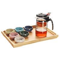 Glas, Teekanne & Teetasse, mit Porzellan & Holz, verschiedene Stile für Wahl, verkauft von setzen