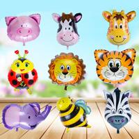 Ballone, Alufolie, verschiedene Größen vorhanden & verschiedene Muster für Wahl & gemischt, 5PCs/Tasche, verkauft von Tasche