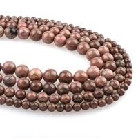 Rhodonit Perlen, rund, verschiedene Größen vorhanden, Bohrung:ca. 1mm, verkauft per ca. 15.5 ZollInch Strang