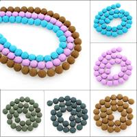 Polymer Ton Perlen , rund, keine, 12mm, Bohrung:ca. 1mm, ca. 32PCs/Strang, verkauft per ca. 15.5 ZollInch Strang