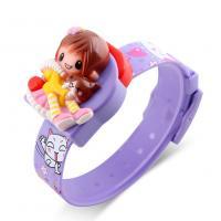 Silikon Armbanduhr, mit Zettelkasten & Kunststoff, abnehmbare & für Kinder & einstellbar, violett, 28x33x18mm, Länge:ca. 8.2 ZollInch, verkauft von PC