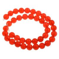 Karneolstein Perle, rund, natürlich, verschiedene Größen vorhanden, Grade AAAAA, Bohrung:ca. 1mm, verkauft per ca. 15.5 ZollInch Strang