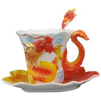 Porzellan, Löffel & Teetasse, verschiedene Stile für Wahl, 120x100mm, 160x125mm, 150mm, verkauft von setzen
