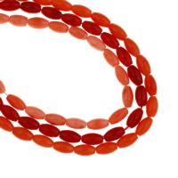 Natürliche Korallen Perlen, Trommel, keine, 5x9mm, Bohrung:ca. 1mm, Länge:ca. 15.7 ZollInch, 10SträngeStrang/Tasche, ca. 44PCs/Strang, verkauft von Tasche
