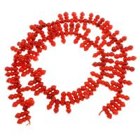 Natürliche Korallen Perlen, 10x4.5mm, Bohrung:ca. 1mm, Länge:ca. 15.7 ZollInch, 10SträngeStrang/Tasche, ca. 92PCs/Strang, verkauft von Tasche