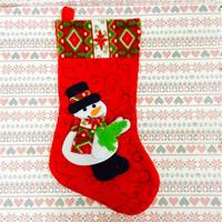 Weihnachtsferien Strümpfe Geschenk Socken, Baumwollsamt, Weihnachtssocke, Weihnachtsschmuck & verschiedene Stile für Wahl, 250x450mm, verkauft von PC