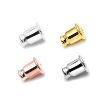 925 Sterling Silber Barrel Bullet Style Ohrmutter, plattiert, keine, 3mm, 10PaarePärchen/Menge, verkauft von Menge