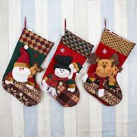 Weihnachtsferien Strümpfe Geschenk Socken, Baumwollsamt, Weihnachtsschmuck & verschiedene Stile für Wahl, 280x450mm, verkauft von PC