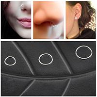 Zink-Legierung Nase Piercing-Schmuck, Zinklegierung, Kreisring, plattiert, unisex & verschiedene Größen vorhanden, keine, 6mm, 8mm, 10mm, 10PCs/Menge, verkauft von Menge