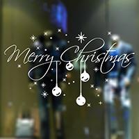 Fensteraufkleber, PVC Kunststoff, Klebstoff & Weihnachtsschmuck & mit Brief Muster & wasserdicht, 580x320mm, verkauft von setzen