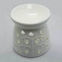 Porzellan Kerzenhalter, Vase, hohl, weiß, 100x100mm, verkauft von PC