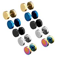 Edelstahl Lippenring, plattiert, unisex, keine, 8x10.50mm, verkauft von Paar
