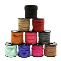 Wollschnur, gemischte Farben, 2.7x1mm, 25m/Spule, verkauft von Spule