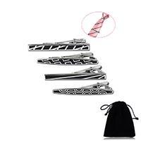 Krawatte Clip, Edelstahl, plattiert, verschiedene Muster für Wahl & für den Menschen & Emaille, 63x6.4mm, verkauft von PC