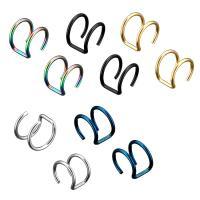 Moderne Ohr Manschette, Edelstahl, für Frau, keine, 9x10x11mm, 1.2mm, 2PCs/Menge, verkauft von Menge