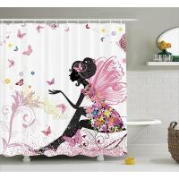 Duschvorhang, Polyester, Rechteck, verschiedene Muster für Wahl, 180x180cm, verkauft von PC