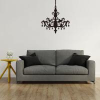 Wand-Sticker, PVC Kunststoff, Lampe, Klebstoff & wasserdicht, 570x450mm, verkauft von setzen