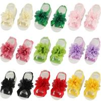 Baby Barefoot Sandalen, Stoff, mit Chiffon, für Kinder, keine, 5.5cm, 2PCs/setzen, verkauft von setzen