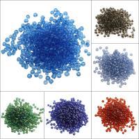 Gemischte Glas Rocailles, Glas-Rocailles, rund, keine, 3x3.6mm, Bohrung:ca. 0.5mm, ca. 500PC/Tasche, verkauft von Tasche