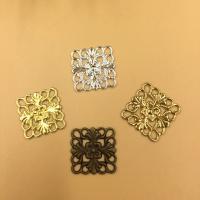 Messing Cabochon Einstellungen, Quadrat, plattiert, keine, frei von Nickel, Blei & Kadmium, 15mm, 200PCs/Tasche, verkauft von Tasche