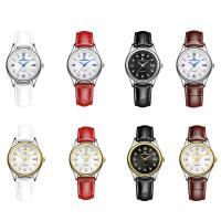 ONTHEEDGE®-Frauen-Schmuck-Uhren, Kuhhaut, mit Glas & 316 L Edelstahl, plattiert, einstellbar & für Frau & wasserdicht & mit Strass, keine, frei von Nickel, Blei & Kadmium, 28x8mm, 14mm, Länge:ca. 9 ZollInch, verkauft von PC