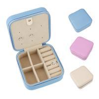 Multifunktionale Schmuck-Box, PU Leder, mit Baumwollsamt, Quadrat, keine, 101x52x101mm, verkauft von PC
