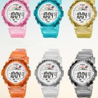 Kunststoff Armbanduhr, mit Glas & Edelstahl, Edelstahl Dornschließe, plattiert, für Kinder & verschiedene Größen vorhanden & glänzend, keine, 45.88x16.24mm, 39.05x15.85mm, verkauft von PC
