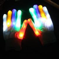 Handschuhe, Nylon, Halloween Schmuck & LED, farbenfroh, 230mm, verkauft von Paar