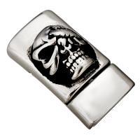 Edelstahl Magnetverschluss, Schwärzen, 29x15x14mm, Innendurchmesser:ca. 13x7mm, 10PCs/Menge, verkauft von Menge