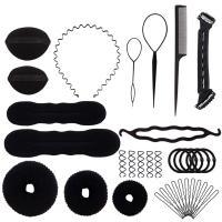 Kunststoff Haar Bun Maker kit, mit Schwamm & Nylon, 250x140x50mm, 15PCs/setzen, verkauft von setzen