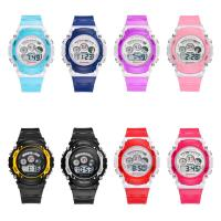 MINGRUI® Uhr, Kunststoff, mit Glas & Edelstahl, plattiert, für Kinder & LED, keine, 36x8.6mm, Länge:ca. 8 ZollInch, verkauft von PC