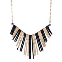 Eisen Halsketten, mit Verlängerungskettchen von 5cm, plattiert, mit Bemaltung & verschiedene Stile für Wahl & für Frau, frei von Blei & Kadmium, 105x135mm-110x140mm, verkauft per ca. 17.5 ZollInch Strang