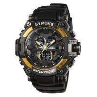 Synoke® Unisex Schmuckuhr, Kunststoff, mit Glas & Edelstahl, plattiert, einstellbar & LED, keine, 58x17mm,22mm, Länge:ca. 10 ZollInch, verkauft von PC