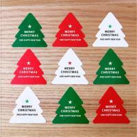 Abdichten von Aufkleber, Papier, Weihnachtsbaum, klebrig & mit einem Muster von Stern & Weihnachtsschmuck & mit Brief Muster, 45x45mm, 10SetsSatz/Menge, 10PCs/setzen, verkauft von Menge