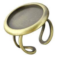 Messing Ringschiene, antike Bronzefarbe plattiert, offen, 26mm, Innendurchmesser:ca. 20mm, Größe:8, verkauft von PC