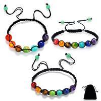Edelstein Woven Ball Armbänder, mit Nylonschnur, unisex & einstellbar & verschiedene Größen vorhanden, frei von Nickel, Blei & Kadmium, verkauft per ca. 12 ZollInch Strang