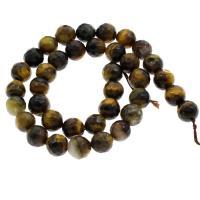 Tigerauge Perle, rund, verschiedene Größen vorhanden & facettierte, Bohrung:ca. 1mm, verkauft per ca. 14.5 ZollInch Strang