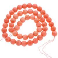 Natürliche Koralle Perle, rund, verschiedene Größen vorhanden & facettierte, Bohrung:ca. 0.5mm, verkauft per ca. 15.5 ZollInch Strang