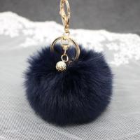 Zinklegierung Schlüssel Verschluss, Plüsch, mit ABS-Kunststoff-Perlen & Zinklegierung, goldfarben plattiert, für Frau, keine, 80mm, verkauft von PC