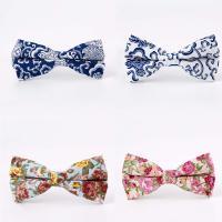Krawatte, Baumwolle, Kunstdruck, verschiedene Muster für Wahl & mit Blumenmuster & für den Menschen, 60x120mm, verkauft von PC