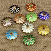 Cloisonne Perlen, Cloisonné, Blume, handgemacht, hohl, keine, 19x19mm, Bohrung:ca. 1.5mm, 10PCs/Tasche, verkauft von Tasche