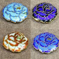 Cloisonne Perlen, Cloisonné, Baum-Pfingstrose, handgemacht, keine, 42mm, Bohrung:ca. 1.5mm, verkauft von PC
