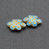 Cloisonne Perlen, Cloisonné, Chinesischer Knoten, handgemacht, keine, 18x13mm, Bohrung:ca. 1.5mm, 10PCs/Tasche, verkauft von Tasche