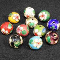 Cloisonne Perlen, Cloisonné, rund, handgemacht, keine, 14mm, Bohrung:ca. 1.5mm, 30PCs/Tasche, verkauft von Tasche