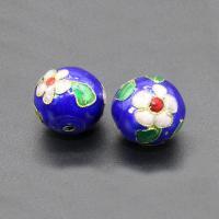 Cloisonne Perlen, Cloisonné, rund, handgemacht, keine, 16mm, Bohrung:ca. 1.5mm, 10PCs/Tasche, verkauft von Tasche