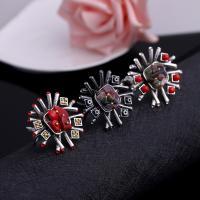 Zinklegierung Manschette Fingerring, mit Edelstein, plattiert, verschiedene Stile für Wahl & für Frau & mit Strass, frei von Blei & Kadmium, 35x35mm, Größe:6-10, verkauft von PC