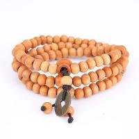 108 Mala Perlen, Holz, mit Nylon & Messing, buddhistischer Schmuck & unisex & 3-Strang, 5mm, 108PCs/Strang, verkauft per ca. 20 ZollInch Strang